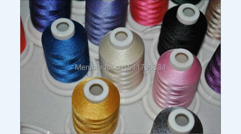 Brand new Simthread brother 61 colors 120D/2 40WT 1000m/cone polyester embroidery thread +32 metallic /kit +Free shipping!!