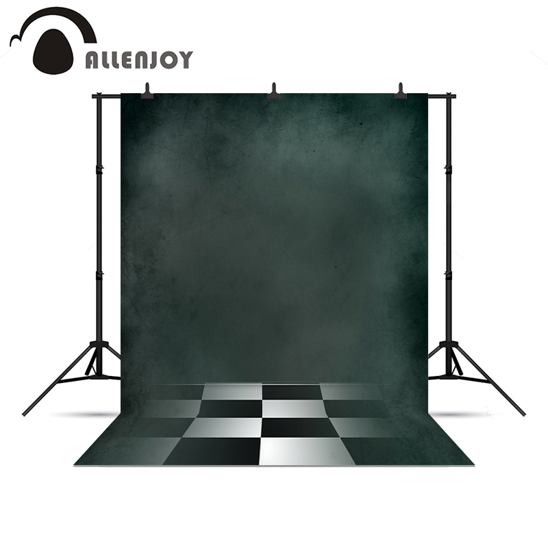 Allenjoy photography backdrops Black white plaid floor dark green background for photo shoots Photophone new Year
