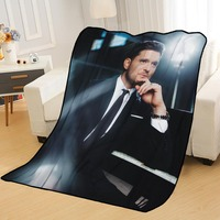 Cobertores personalizados personalizado michael buble cobertores para camas macio diy sua imagem decoração quarto lance cobertor de viagem