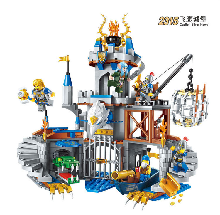 656 pièces petites particules chasse soldat Compatible legoed Pirate navire série château blocs de construction modèle brique jouets pour enfants