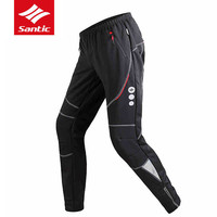 SANTIC Men S Thermal Mtb Cycling Pants Windproof Polyester Mtb Pants Mountain Bike Bicycle Pants Black
