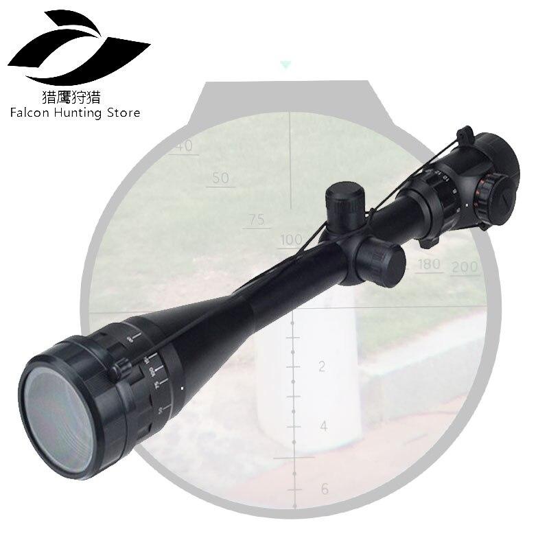 6-24X50 AOEG Tactical Rifle Red & Green Mil-Dot Illuminated Sight Sniper Scope Airsoft gun Sight combo 6 24x50 aoeg riflescopes green red dot