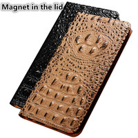 CJ11 Crocodile back pattern natural leather phone case for Huawei Honor Play case for Huawei Honor Play phone bag