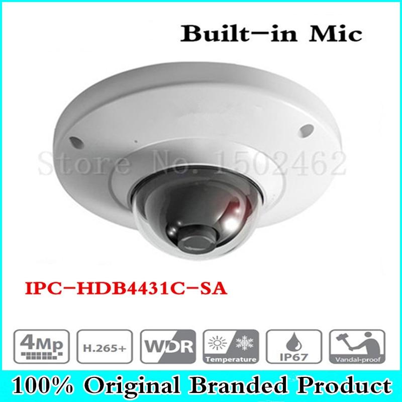 Original H2.65 IPC-HDB4431C-SA 4MP IP67 IK10 built-in MIC with sd Card slot POE ip camera replace IPC-HDB4300C dome camera ahua ipc eb5531 5mp wdr panorama 180 degree built in mic with sd card slot poe network fisheye ip camera replace ipc eb5500