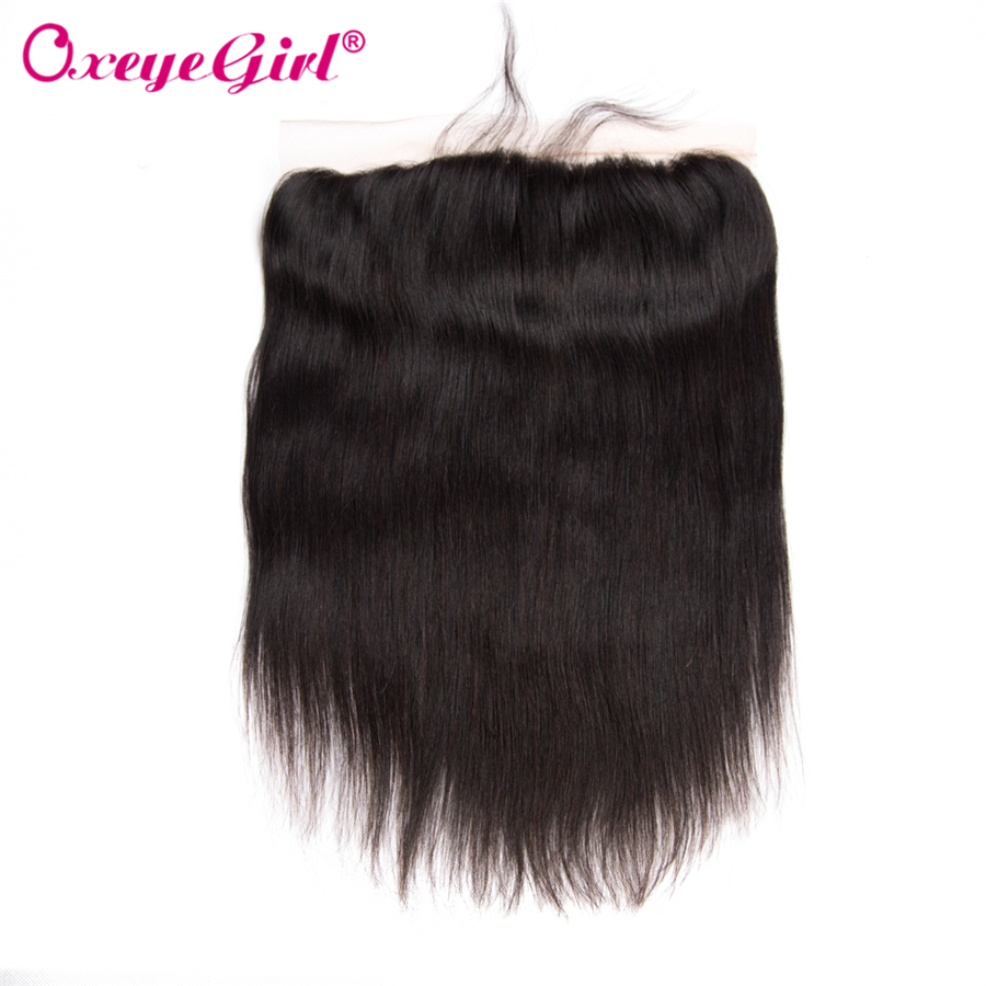 13x4 Lace Frontal Closure With Baby Hair Ear To Ear Lace Front Peruvian Hair Straight Hair