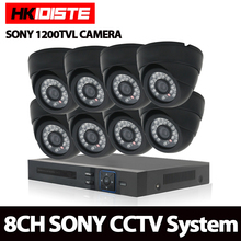 1.0MP HDMI 1080P HD 8 Channel DVR AHD Surveillance Kit Sony 8PCS 1200TVL indoor Home Security Camera CCTV System With 1TB HDD