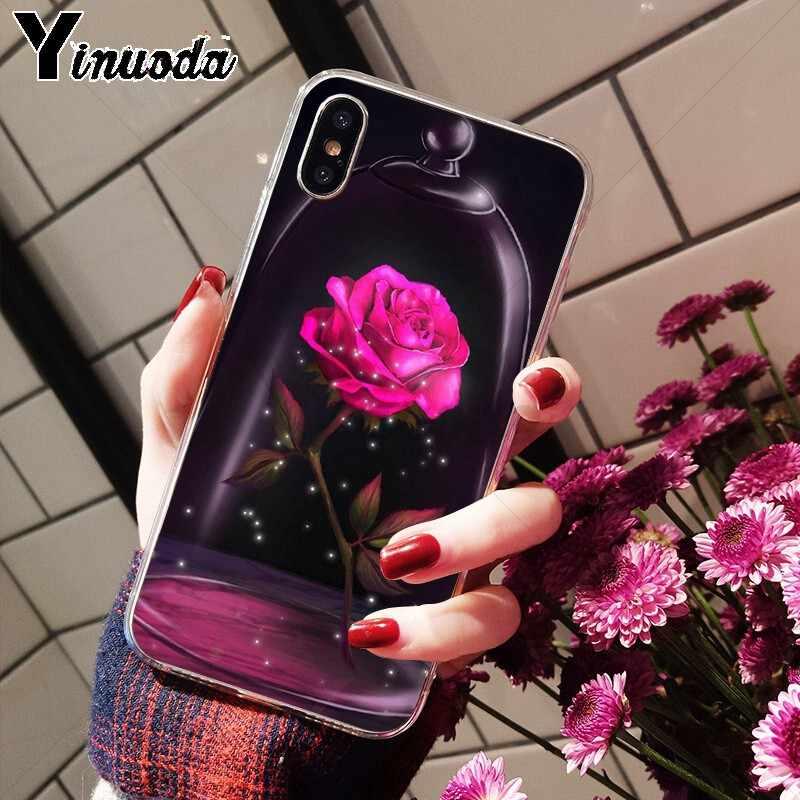 Yinuoda Beauty Beast Rose Princess Art DIY การวาดภาพสำหรับ iphone ของ Apple iphone 8 7 6 6S plus X XS MAX 5 5S SE XR