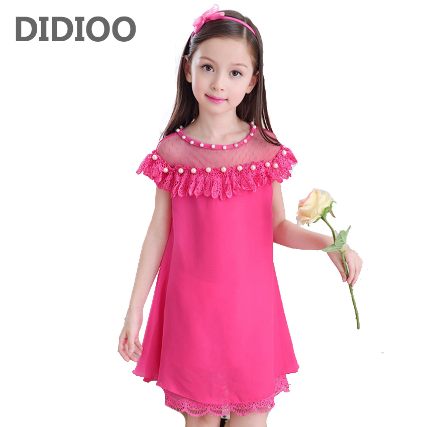 Kids Dresses For Girls Sundress 3 Lace Chiffon Princess Dress 5 2017 Summer Girls Party Dress 7 Vestidos Infantils 9 11 12 Years maikes new product durable genuine leather watch band 19mm 20mm 22mm black casual watch strap stainless steel buckle for tissot