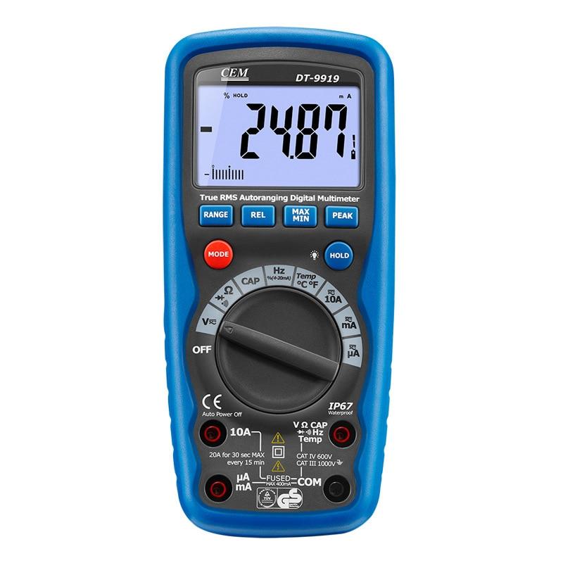Aletler'ten Akım Ölçer'de DT 9919 ampermetre profesyonel su geçirmez tam koruması dijital multimetre title=