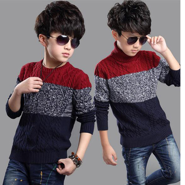 Boys Sweater Brand Kids Knit Outerwear Pullover Handsome Children's Winter Cardigans Boys Sweaters