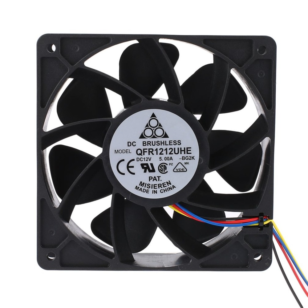 LESHP 7500RPM DC12V 5.0A Miner Cooling Fan For Antminer Bitmain S7 S9 4-Pin Connector Brushless Replacement Cooler Low Noise 2018 new arrival 7000rpm cooling pc cpu cooler 120 mm fan replacement 4 pin connector for antminer bitmain s7 s9 video card diy