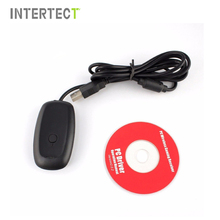 For xbox 360 Black Wireless Gaming PC USB Receiver Supports Win8 system for Microsoft Xbox360 Wireless Controller Console