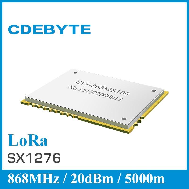 imágenes para CDEBYTE E19-868MS100 SX1276 LoRa módulo SPI 5 km transceptor rf 868 MHz transmisor y el módulo receptor