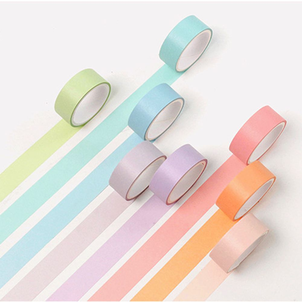 12 Colors Washi Tape Set Adhesive Decoration Cuping Stickers Diary Album School