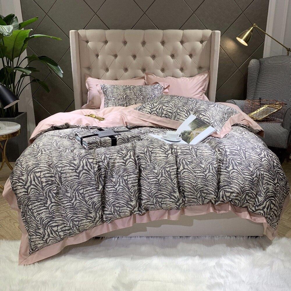 Nuevo juego de cama de algodón egipcio de los años 60 ropa de cama de lujo