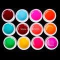 Hot DIY 12 PCS Mix Colors Glass UV Builder Gel Acrylic Nail Art Set for Nail Art Tip New