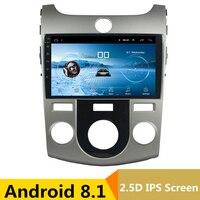 9 Android 8,1 автомобильный DVD мультимедийный плеер gps для KIA Forte Cerato 2008 2012 2010 2009 аудио автомобиля Радио Стерео Навигатор bluetooth