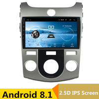 9 Android 8.1 Car DVD Multimedia Player GPS For KIA Forte Cerato 2008 2009 2010 2012 audio car radio stereo navigator bluetooth