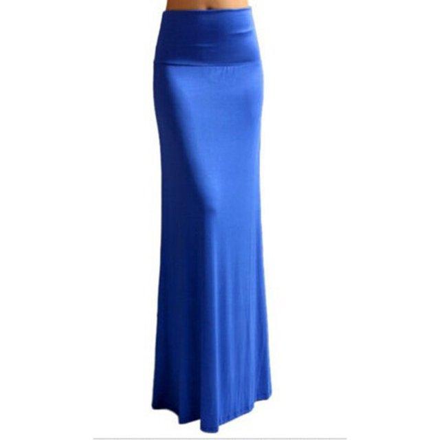 ad608ce394 Invierno faldas largas de algodón estilo bohemio otoño lápiz Casual falda  Maxi mujeres vendaje plisado Chic