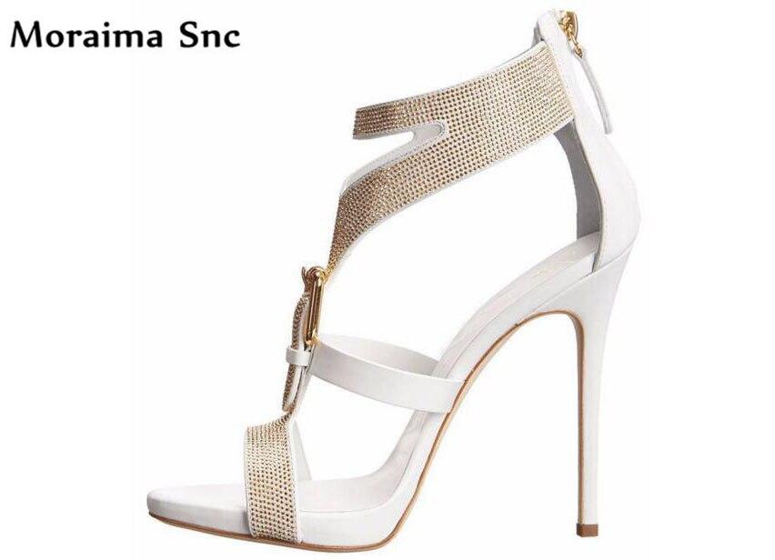 Moraima Snc summer popular sexy women sandals side zipper open toe shoes women sexy high heels platform PU leather buckle все цены