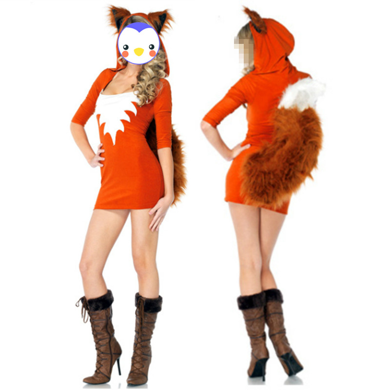 Wholesale Sexy Halloween Animal Costume Sexy Fox Uniform Temptation Outfit Halloween Fancy Dress Cosplay Party Costume