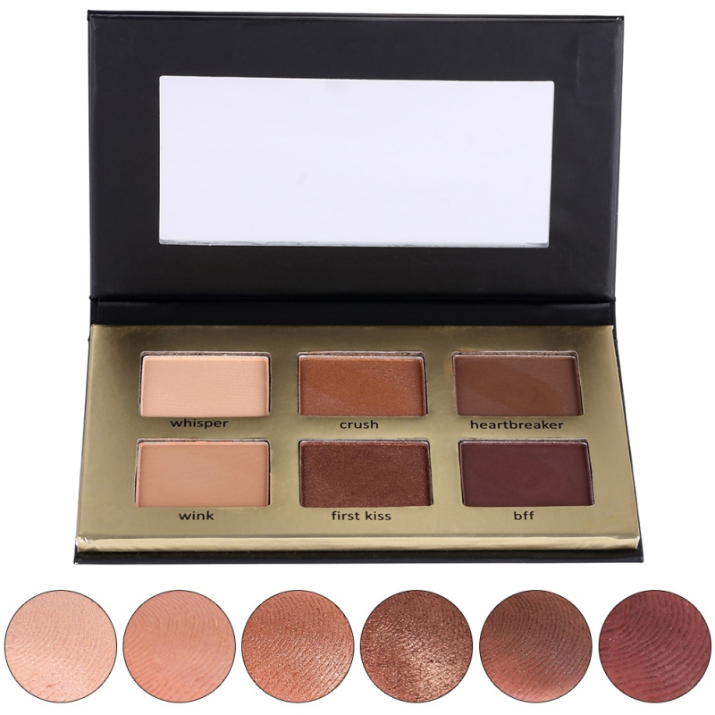 Cosmetics 6 Color Matte Natural Eye Shadow Palette Naked Eye Shadow
