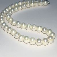 Natural Fresh Water White Pearl Necklace 6 7mm Fashion 925 Sterling Silver Women Necklace For Wedding