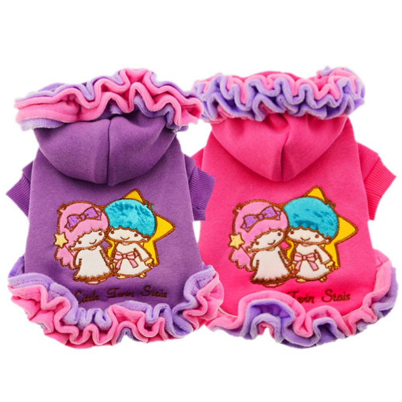 Pet Dog Clothes Winter Hoodies Ice Cream Lace Dog Coats For Chihuahua Dog Skirts Festival Dress For Small And Large Girl Dogs