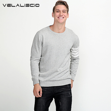 VELALISCIO Men Sweater Winter O Neck Knitted Sweaters Male Casual Autumn Pullovers Mens Warm Brand Sweater Plus Size M-3XL