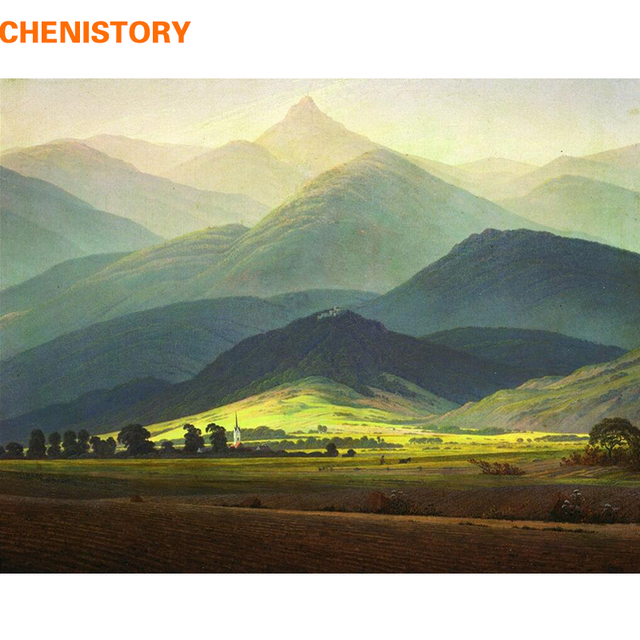 CHENISTORY Famous Picture Mountain DIY Painting By Numbers Landscape  Calligraphy Painting Modern Wall Art For Home - CHENISTORY Famous Picture Mountain DIY Painting By Numbers Landscape