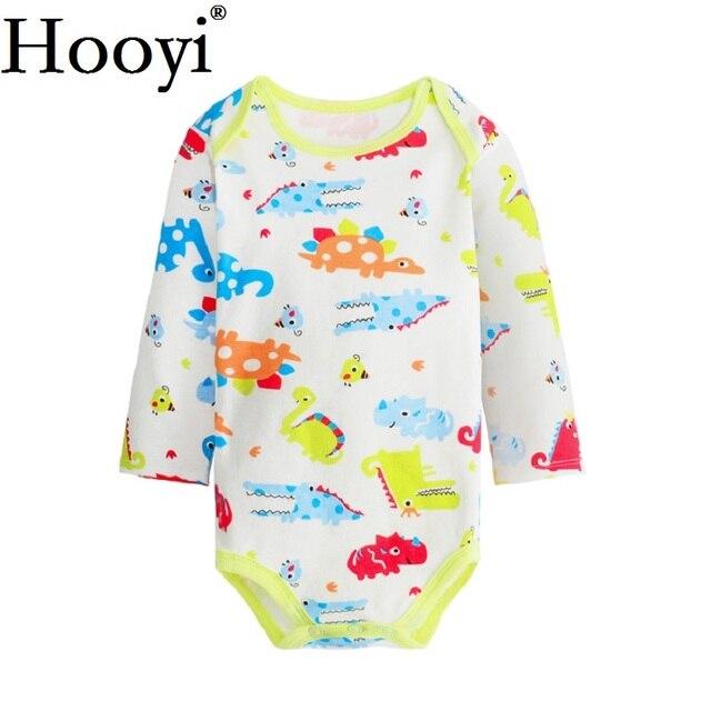 761f1caf95 2018 Newborn Bodysuits Long Sleeve Baby Boy Clothes Dinosaur Jumpsuit  Clothing Babywear 100% Cotton Animal Cartoon Pajamas Suit