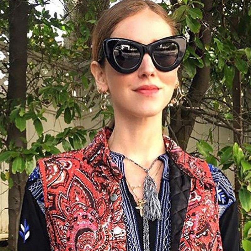 0813756ed98 Cat Eye Sunglasses For Women Sexy Summer Beach Shades Vintage Sun Glasses  Black White Eyewear Cateye lentes de sol Mujer LA5318-in Sunglasses from  Apparel ...