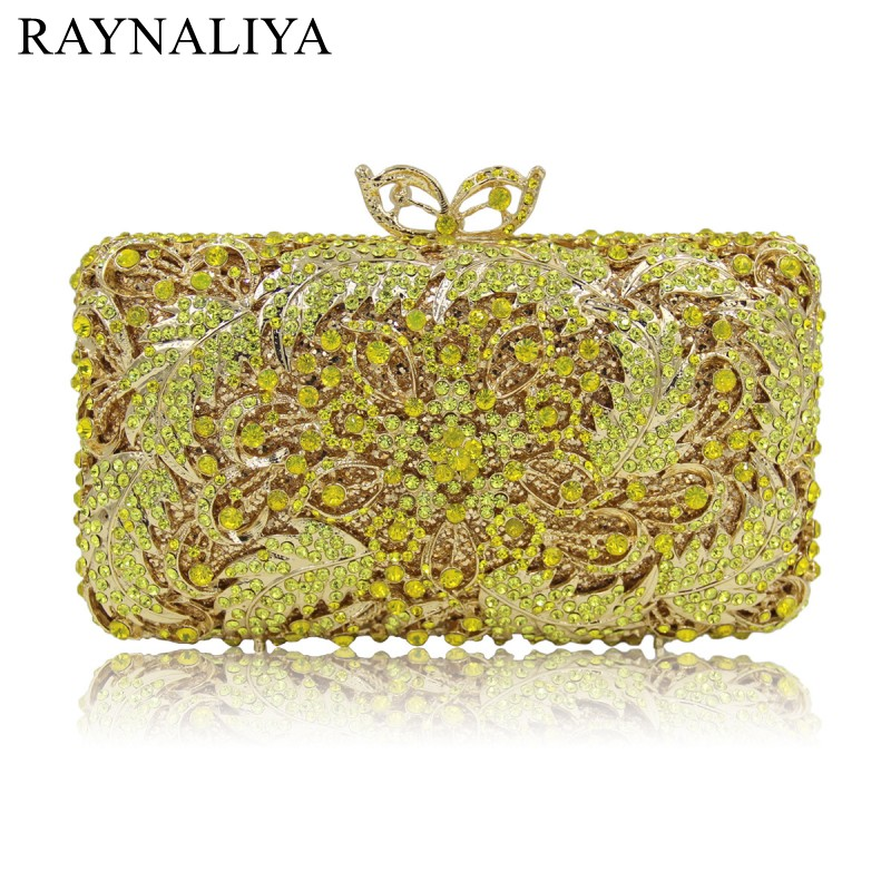 Fashion Gold Women Bag High Quality Designer Brand Evening Bags Clutch For Woman Shoulder Crystal With Chain Smyzh-e0321 long fashion crystal evening bags designer clutch famous brand women golden evening bags with chain women shoulder bag sc519
