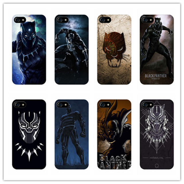check out 23bc6 4d14b US $2.1 |Mcu hot speelgoed black panther print telefoon case cover voor  iphone 6 6s plus 7 7 plus 5 s 5c 4 s voor samsung galaxy s6 s7 edge s5 s4  S3 ...