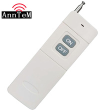 ANNTEM 3000m Remote Control 2 Button Transmitter Long Range Distance Remote Transmitter Big Button 315/433Mhz TX
