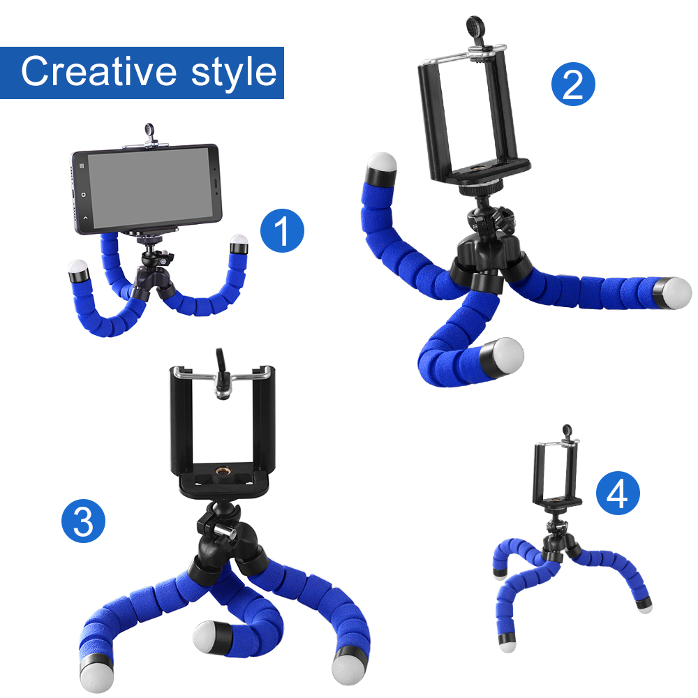 Phone Holder Flexible Octopus Tripod Bracket Selfie Expanding Stand Mount Monopod Styling Accessories For Mobile Phone Camera (3)