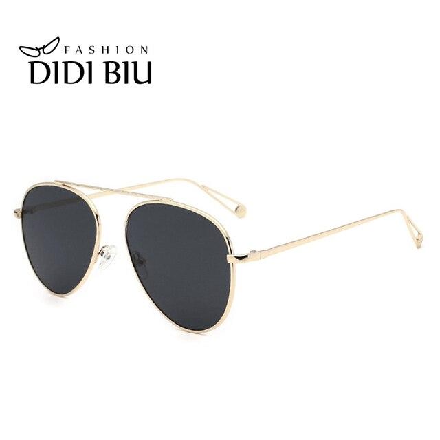 7008852d7eb DIDI Unisex Military Aviation Sunglasses Women Flat Mirror Lens Eyewear  Yellow Coating Shadows Men Driver s Frog Glasses W730