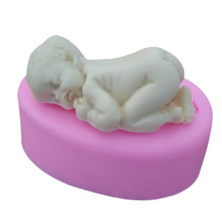 Sticking Cake Decorations On Fondant : Silicone mold for polymer clay,Baby 3D Mold,Cookware ...