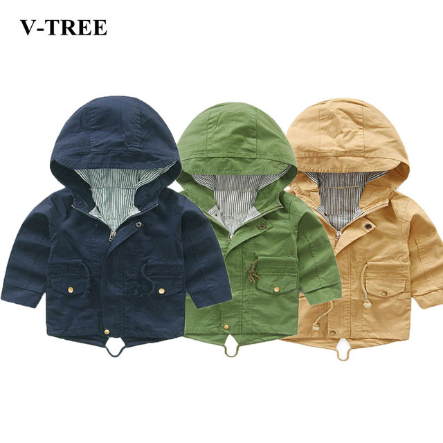V-TREE בני טרנץ מעילי סלעית מעילים לתינוקות ילדי מעילי פעוטות Outerwears ילדי מעילי תינוק פונצ 'ו
