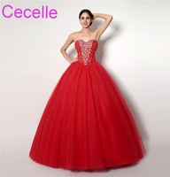 Red Ball Gown Wedding Dresses 2018 Sweetheart Beading Top Corset Back Women Non White Bridal Gowns Couture Custom Made Sale