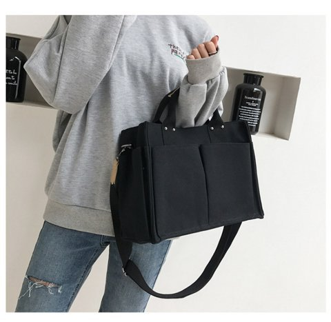 Fashion Cotton Women's Canvas Shoulder Bag  Large Capacity Foldable Reusable Shopping Shopper Bag Bolsa Handbags Tote Ladies