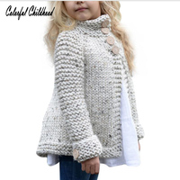 Girls Sweater Kids Cardigan Coat Children S Knitted Button Sweaters Outerwear Tops Xmas Baby Clothing