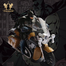 Hero Cool Black Man Electric Motorbike Toy Batman Super Film Figure Model Drive Motorcycling Educational for Boys