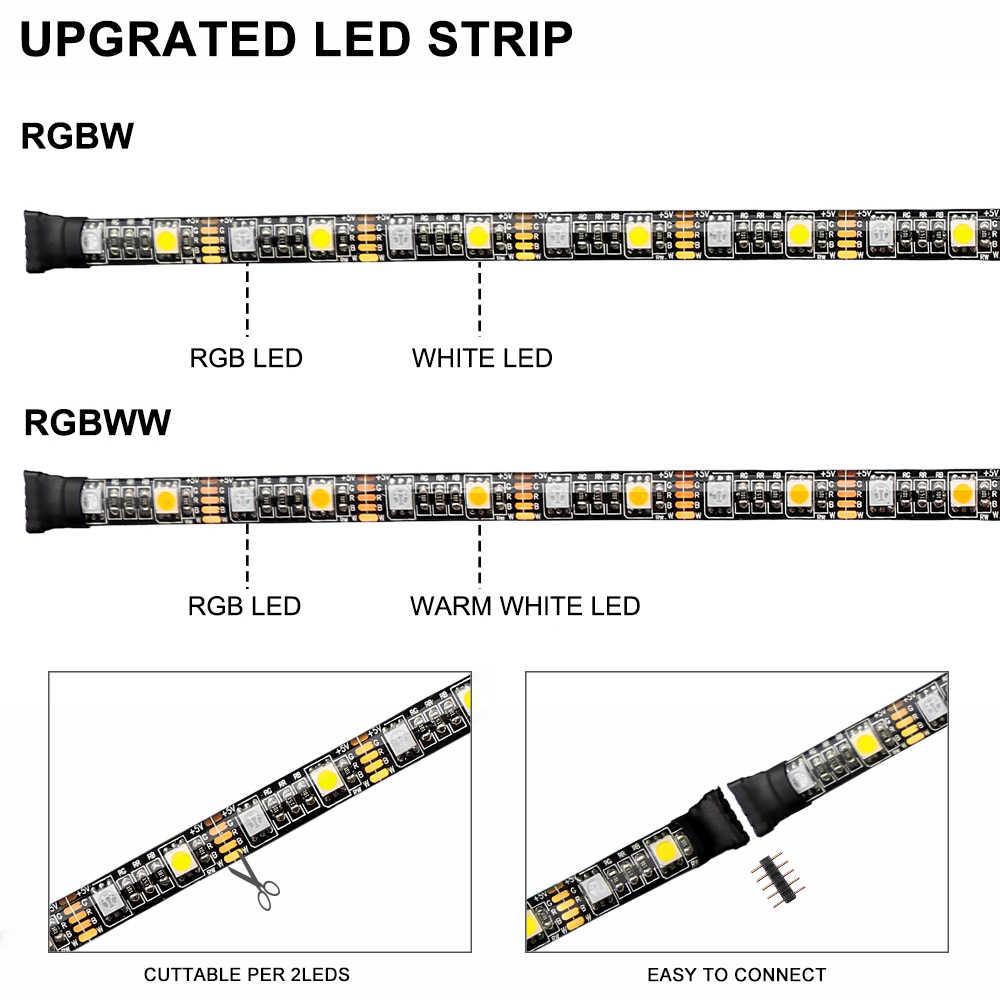 Nouveau bande LED usb 5050 RGBW RGBWW avec contrôleur bande Flexible rétro-éclairage pour fond TV biais éclairage 50CM 1M 2M 3M 4M 5M