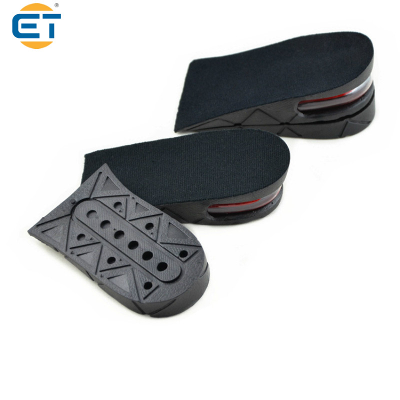 2 pairsUnisex 2-Layer Air Increase Cushion Height Shoe Pad 5CM Increased Insoles Invisible Lift Pads Heel kotlikoff 3 5cm half pad insoles women man up height increase shoe pad heel insoles pads invisible height increase shoe inserts
