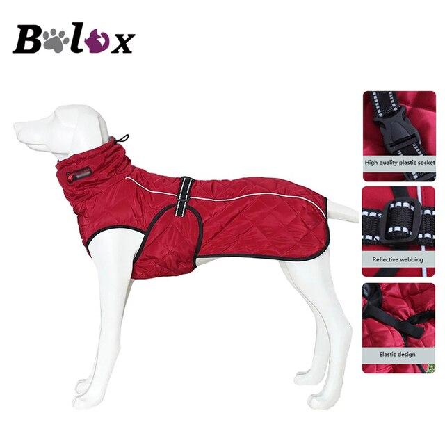 כלב מעיל עמיד למים רעיוני גדול כלב מעיל חורף חם צמר לחיות מחמד מעיל עיבוי בגדי כלב ציוד לחיות מחמד