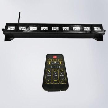 Remote 9x3W Indoor LED Wall Wassen UltraViolet Licht Flood Washer Lamp Afstandsbediening DMX512 Rvs Brug tuin