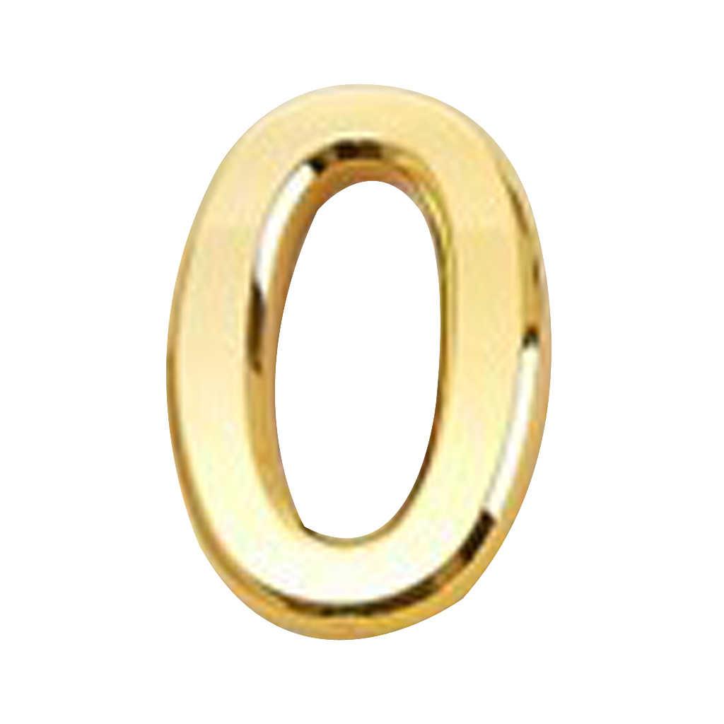 جديد حار الذهبي البلاستيك ملصقات ثلاثية الأبعاد الذاتي لاصق منزل فندق رقم الباب لزجة رقمية أرقام الأسرة غرفة المعيشة ديكور المنزل