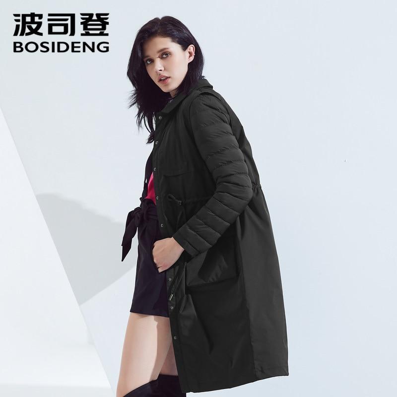 Bosideng 가짜 두 다운 재킷 여성의 긴 섹션 허리 슬림 슬리밍 스포츠 용 재킷 b80131134를받을 싸움-에서다운 코트부터 여성 의류 의  그룹 1