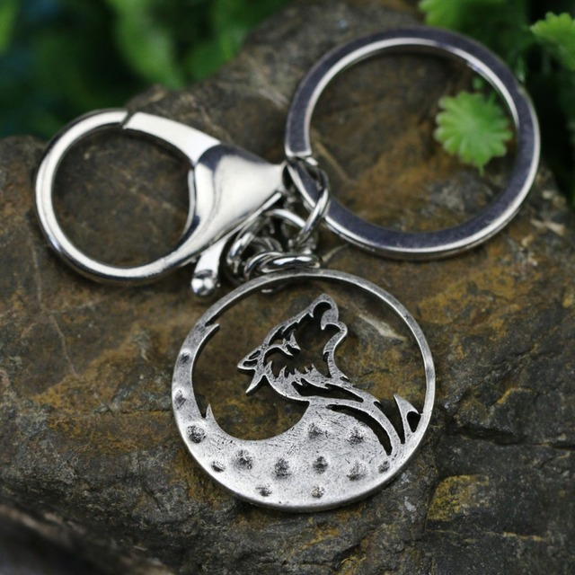 Tkuamigo Metal Inspired Nordic Viking Wolf keychains Wolves Memorial anniversary Vikings Gifts for Him Wholesale A224